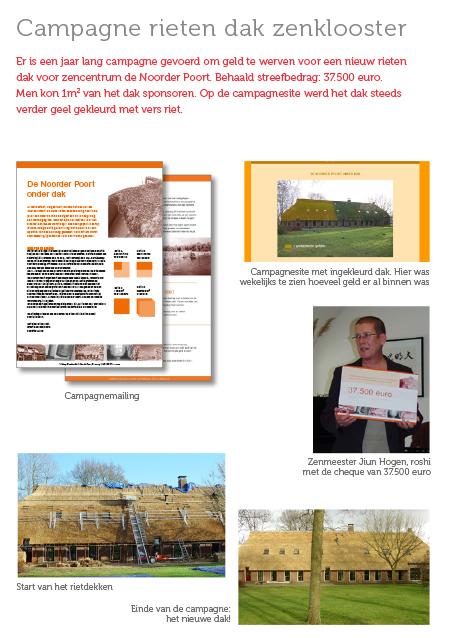 Maja Blauw campagne rieten dak zenklooster Noorder Poort
