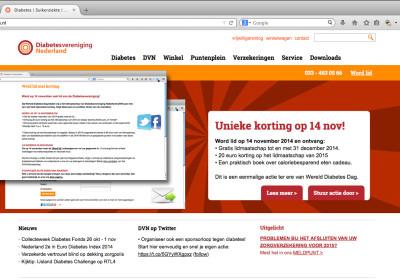 Maja Blauw online campagne Diabetesvereniging 2014
