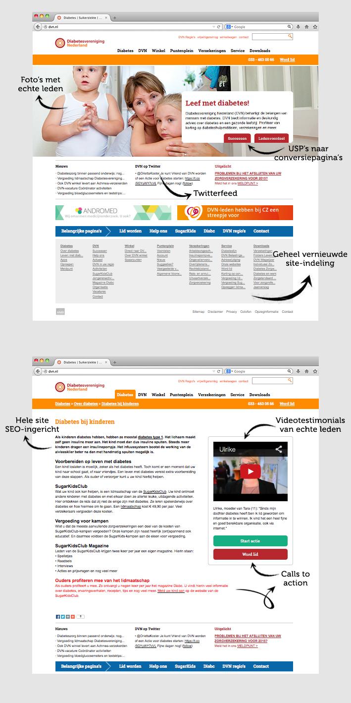 Maja Blauw webbeheer van corporate website Diabetesvereniging